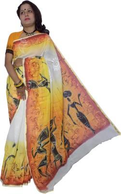 KheyaliBoutique Graphic Print Tant Handloom Cotton Sari