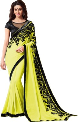 Amayra Fashions Embellished Fashion Pure Georgette Sari