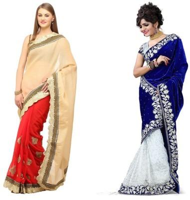 Tulsi Nx Solid Fashion Velvet, Jute Sari