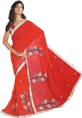 Asha Self Design Daily Wear Handloom Synthetic Chiffon Sari