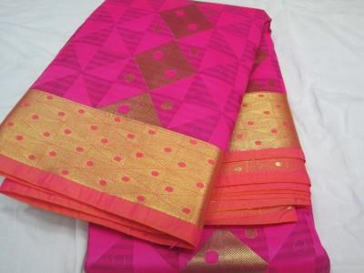 Gals Shop Geometric Print Fashion Handloom Poly Silk Sari