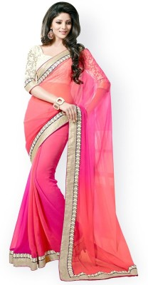 Heena Fashion Self Design Fashion Georgette Sari