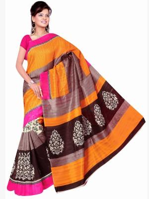 Jiya Self Design, Printed Fashion Silk Sari