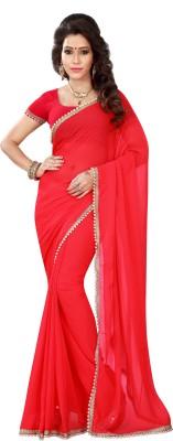 Chandra Silk Mills Embriodered Fashion Chiffon Sari