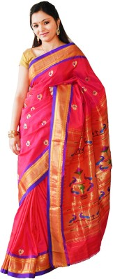 Sanskrutisilk Woven Paithani Handloom Pure Silk Sari