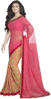 Kaseesh Floral Print Daily Wear Georgette Sari