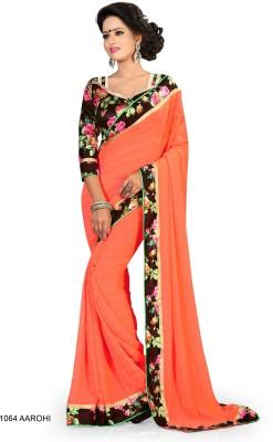 SanShineFashion Floral Print Fashion Georgette Sari