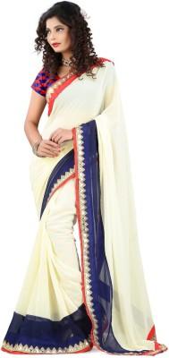 Divy Self Design Bollywood Handloom Georgette Sari