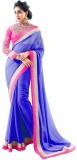Heer Ganga Plain Fashion Chiffon Saree (...