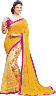 Crown Creation Embriodered Bollywood Georgette Sari