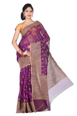 Creation Floral Print Bhagalpuri Handloom Silk Cotton Blend Sari