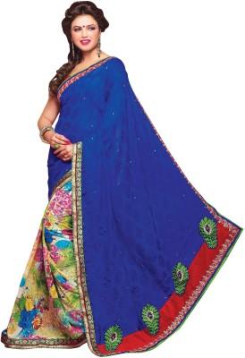Trimurti Fashion Embriodered Fashion Handloom Jacquard Sari