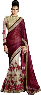 Style Sensus Embriodered Bollywood Lycra, Net Sari