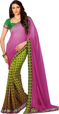 Rajvaibhav Self Design Fashion Chiffon Sari