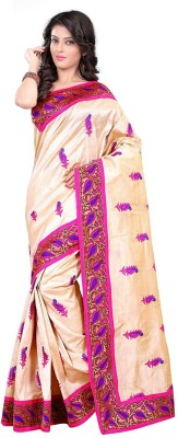 SHRI SAREES Embriodered Chanderi Handloom Chanderi, Banarasi Silk, Cotton Sari