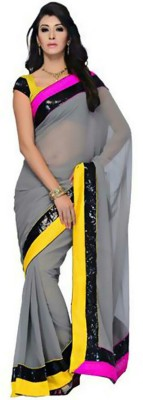Nikita Sarees Embriodered Fashion Georgette Sari