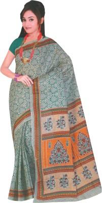 Dhammanagi Floral Print Daily Wear Cotton Sari
