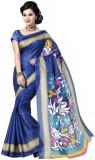 Textilebaba Printed Fashion Art Silk Sar...