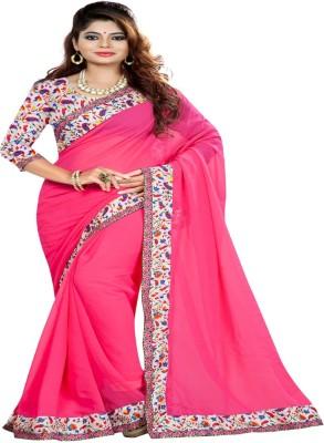 Om sai creation Floral Print Bollywood Georgette Sari