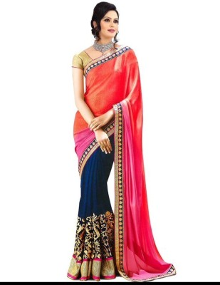 Itmella Embriodered Fashion Georgette Sari