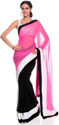 Ruchifashion Solid Fashion Handloom Georgette Sari