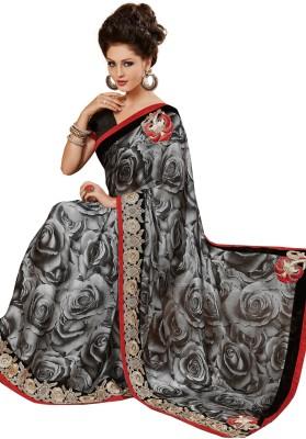 Pbs Prints Graphic Print Bollywood Chiffon Sari