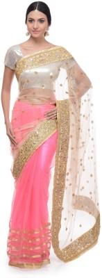Aarohii Polka Print Bollywood Net Sari
