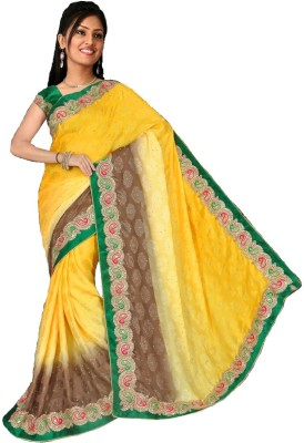 Ganga Silk Embriodered Fashion Georgette Sari