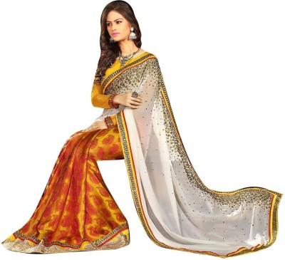 Karan Fashion Embriodered Fashion Georgette Sari