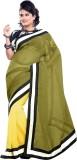 Dlines Self Design Fashion Linen Sari (G...