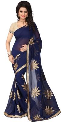 PAHAL FASHION Embriodered, Self Design Fashion Chiffon Sari