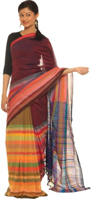 Indo Mood Self Design Fashion Cotton Sari