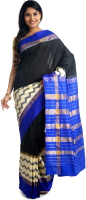 BlackBeauty Woven Pochampally Handloom Pure Silk Sari at flipkart
