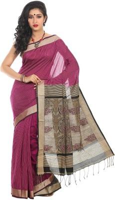 Crochetin Self Design Fashion Handloom Chanderi Sari