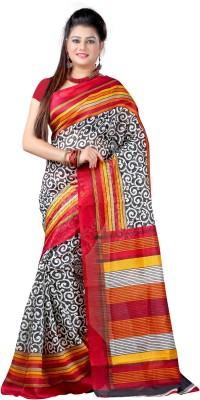 Anoha Printed Bhagalpuri Silk Sari