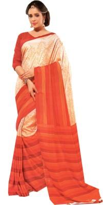 Purple Boat Printed Fashion Silk Cotton Blend Sari