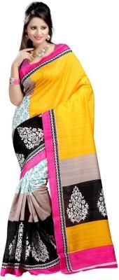 FashionCluess Floral Print Bollywood Printed Silk Sari