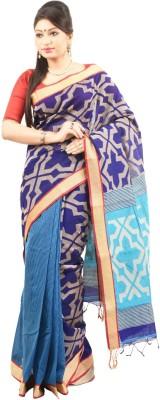 Rupoman Printed Fashion Handloom Silk, Cotton Sari
