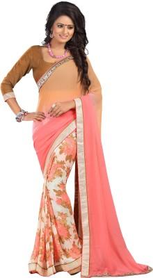 Saumya Designer Solid Bollywood Georgette Sari