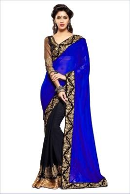 Reya Self Design Fashion Georgette Sari