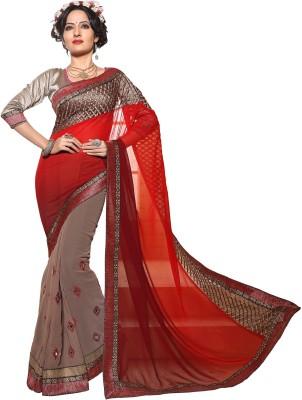 Anwesha Saree Embriodered Fashion Georgette Sari