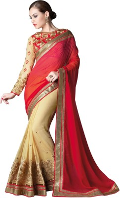 NCS Embriodered Fashion Georgette, Net Sari