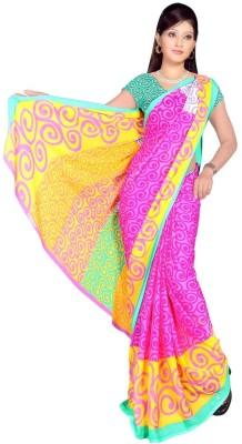 Swank Graphic Print Daily Wear Georgette Sari