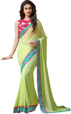 Wholetex Embriodered Fashion Pure Georgette Sari