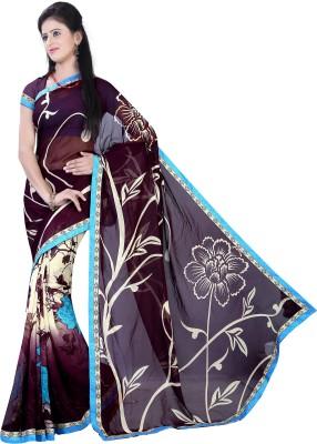 KBDESIGN Printed Paithani Marble Padding Sari