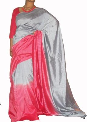 ZORIA Solid Fashion Art Silk Sari