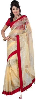 Fabfuniya Embriodered Bollywood Handloom Net Sari