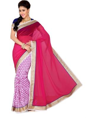 Deepika Saree Solid Bollywood Art Silk, Chiffon Sari
