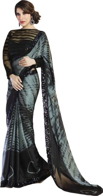 Itmella Self Design Bollywood Georgette Sari