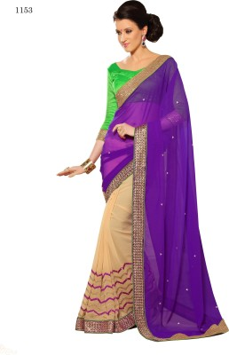 Allol Embriodered Fashion Chiffon Sari